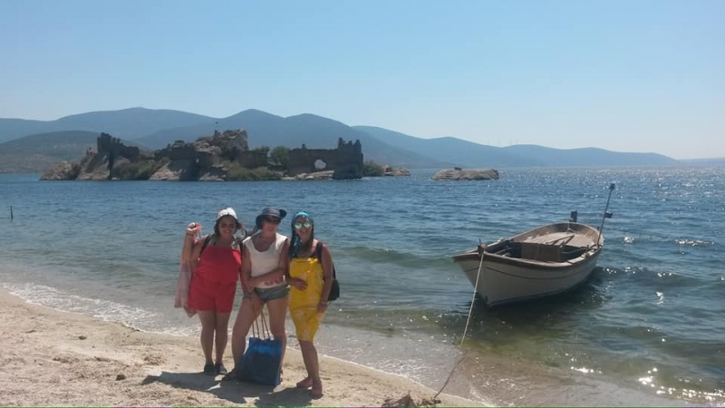 ligia-me-and-evrim-on-bafa-beach
